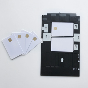 Image 4 - 50pcs/lot blank inkjet printable SLE4428 chip card contact pvc card credit card size print by epson or canon inkjet printers