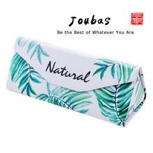 JOUBAS Sunglasses Box Triangle Hard foldable Glasses Pouch PU Leater Waterproof Spectacle Cases for Eyeglasses Printed Bag 19001