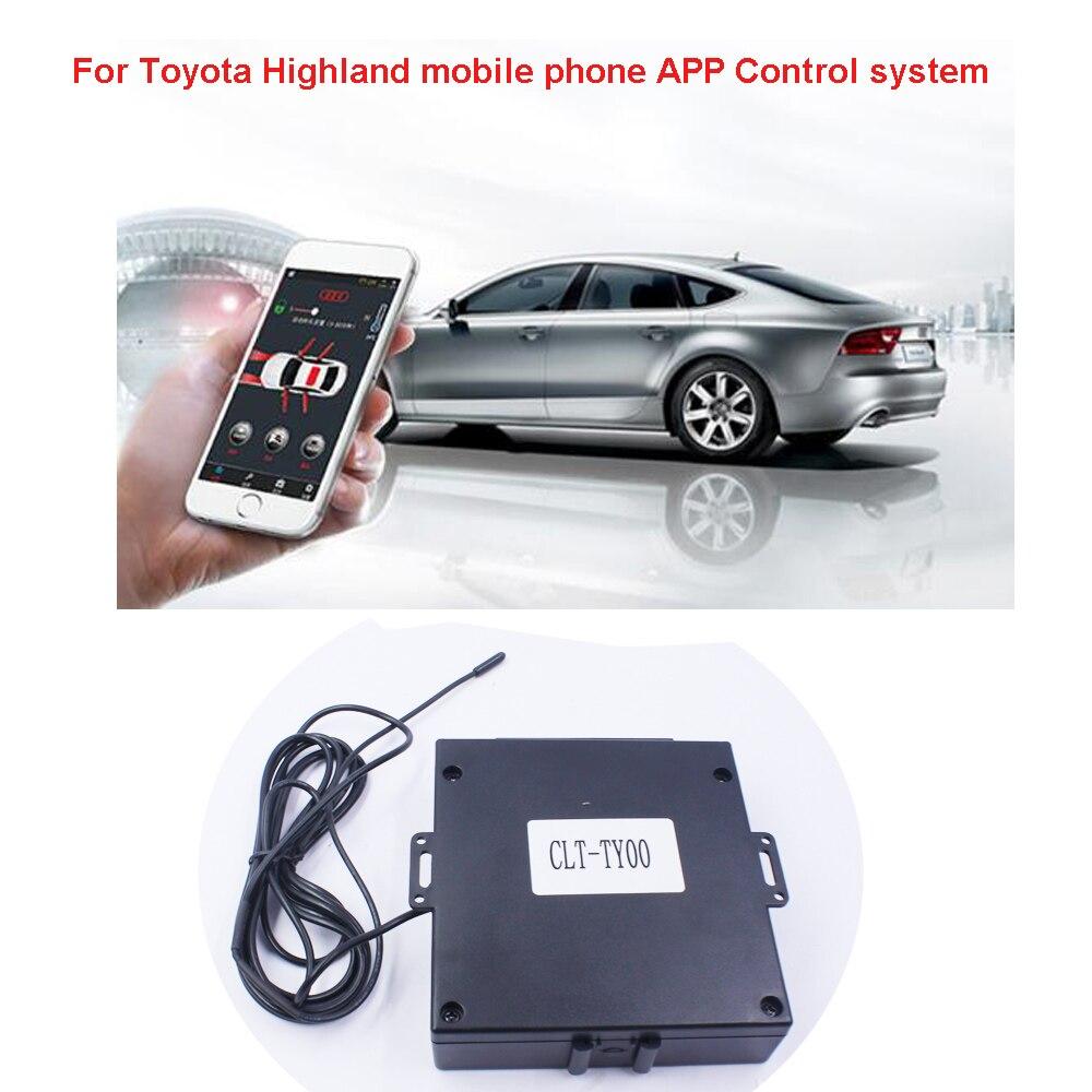 Pour Toyota Highland voiture moteur démarrage/arrêt téléphone mobile APP système de contrôle un bouton poussoir et PKE Keyless entrée (année 2009-2018