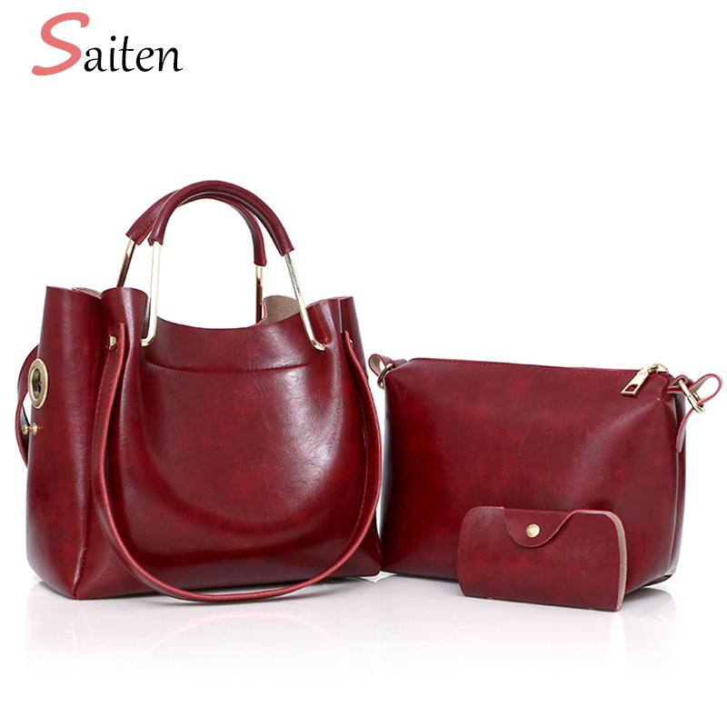 Vintage PU Leather Handbags Women Bag Solid High Quality Female Shoulder Bags Famous Brand Ring Handle Casual Tote Bags Sac A dropshipping top quality fashion sac 2017 brand new women handbags pu leather women messenger bags casual tote female bolsa bag