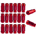 EE support  Lot20 For HONDA ACURA CIVIC ACCORD JDM D1 Spec Red Wheel Lug Nuts M12 X1.5MM W8  XY01