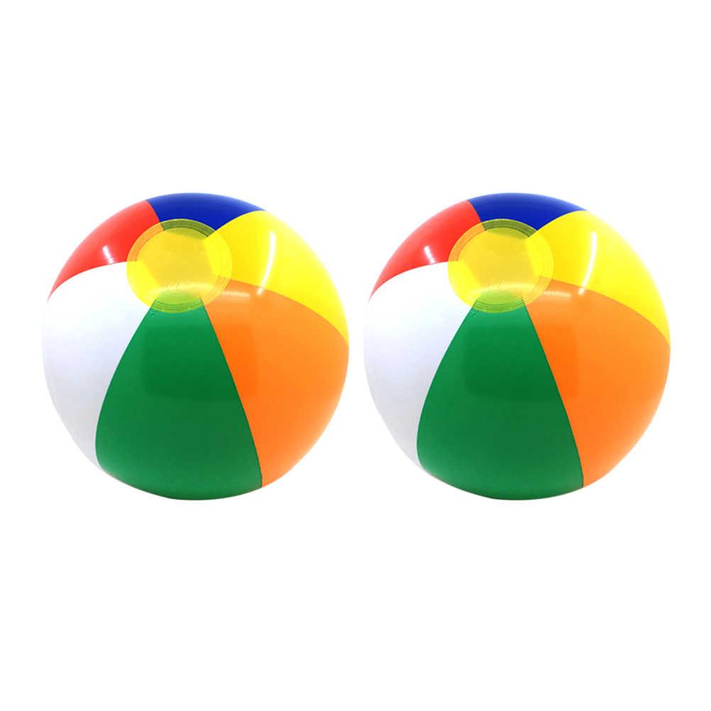 2 шт. летний надувной шар для спорта на открытом воздухе Забавный пляжный детский игровой водный шар игрушка для ребенка 23 см