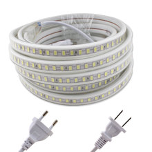 5730 220V LED Light Strip Lamp 120Leds/m SMD 5730 5M 220 V Volt LED Strip Light 220V Diode Tape Waterproof Kitchen Living Room