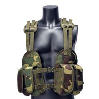 Outdoor Tactical Chest Rig Adjustable Padded Modular Military Vest Mag Pouch Magazine Holder Bag Platform Earth / Camouflage