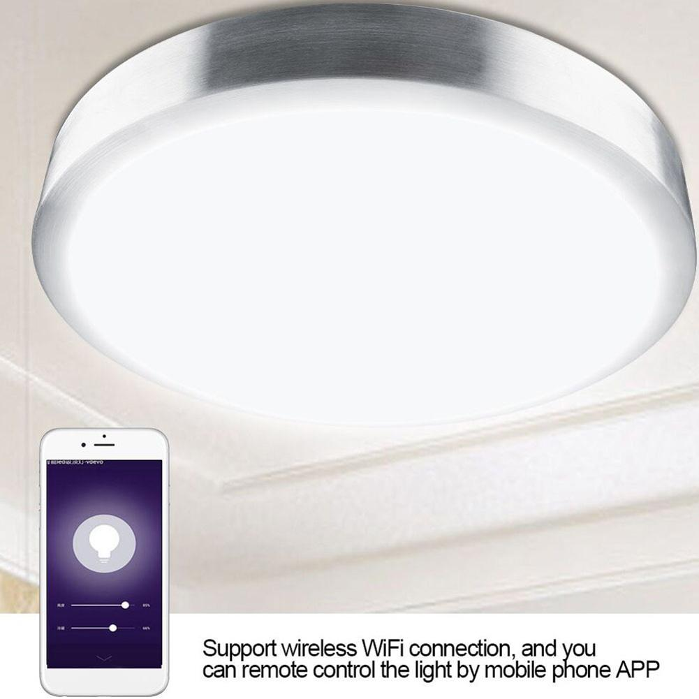 60W E27/B22 Smart Ceiling Light WiFi Bluetooth Mobile Phone Remote Control Lamp #01