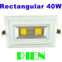 Rectangular Recessed Led Lights 40W COB Rotary SMD Angle Adjustable Flood Bath Room Indoor Home Lamp
