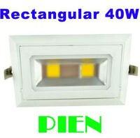 직사각형 recessed COB led 조명 40 W 30 W COB downlight 회전 lamparas de techo luces 주방 110 V 240 V dhl 10 pcs