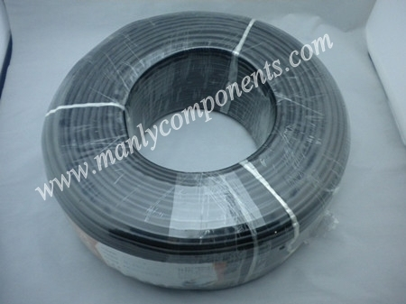 Siamese cable 200M SYV 75-3 CCTV Coaxial Cable 1 roll with hight quality