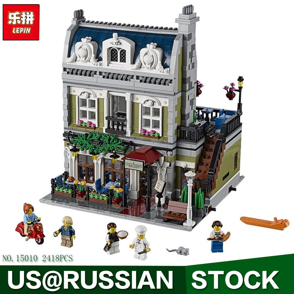 Lepin 15010 Creator Expert City Street Parisian Restaurant Model Building Kits Blocks Toy