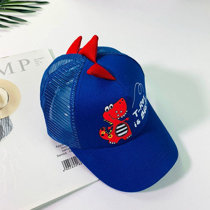 HTB1iKlWLSzqK1RjSZFpq6ykSXXaA - Doitbest 2-8 Years old Summer Children Baseball Cap Boys Girls Cartoon Dinosaur Snapback mesh Kids HipHop Hat Sun cap
