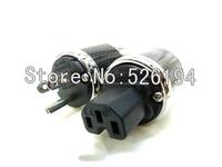 Бесплатная доставка пара fi 50m США Версия родием AC Мощность разъем для Hi Fi Мощность кабель
