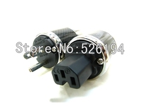 Free shipping pair FI 50M US version Rhodium plated AC Power Connector Plug for HiFi power cable