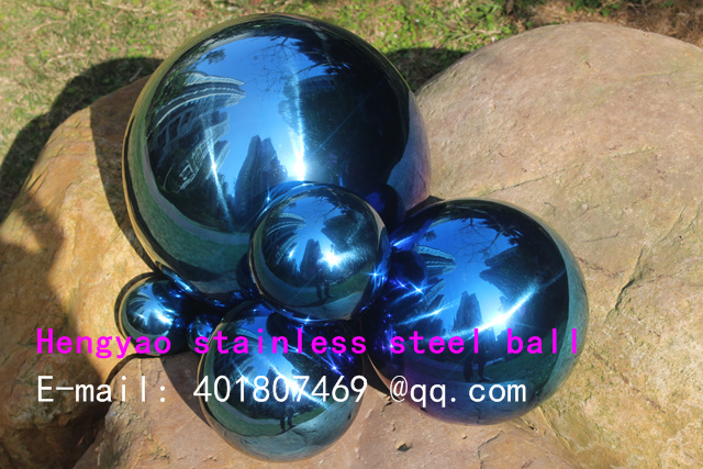 300 mm in diameter Blue stainless steel ball,hollow ball,decoration ball,Interior furnishing articles, garden decoration