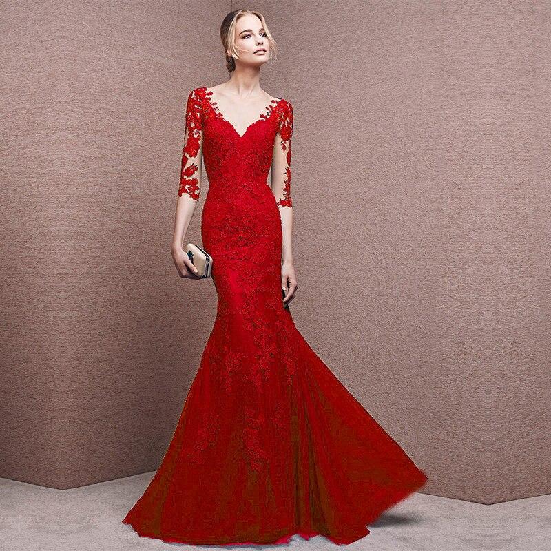 Nueva Sexy Encaje Primavera De V Femenina Vestidos Coreano Negro 2019 Rojo Otoño Largo royal red Blue Cuello Cx700 Oficina Fiesta Las Black Mujeres Vestido n4Pqv4XZ