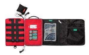 Image 3 - Kit de primeiros socorros, kit profissional de 4 camadas, primeiros socorros, sobrevivência, armário, grande, saco de resgate para viagem