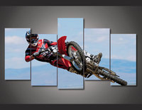 Unframed Printed Motorcycle Racing 5 pieces Group Painting room decor print poster picture canvas Drop shipping