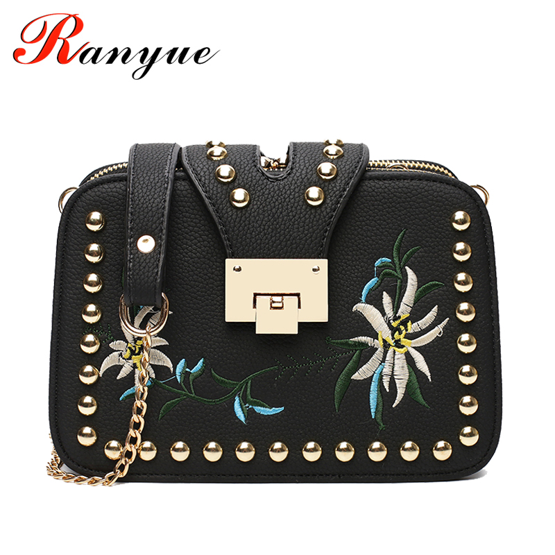 Fashion Chain Women Bag Designer Handbags High Quality Floral Crossbody Bags For Women Flap Messenger Bags Ladies Bolso Mujer sunmejoy fashion ribbons handbags designer women bag crossbody bags rivet shoulder bags embroidered floral women messenger bag