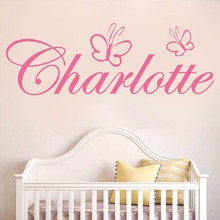 WXDUUZ Custom name butterfly girls bedroom home decor Wall sticker wall decals Art Home Decor Nursery Kids Room Wall Decor P15 cheap Modern Plane Wall Sticker For Wall Furniture Stickers Floor Stickers For Tile For Smoke Exhaust Window Stickers Toilet Stickers