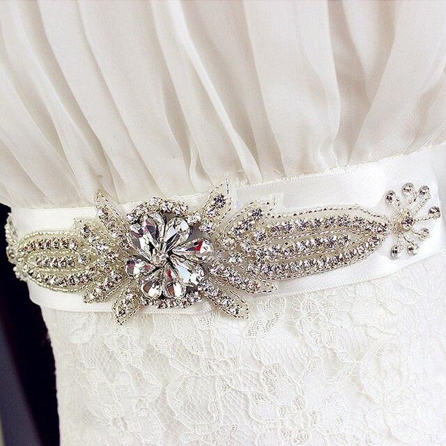 2017 New Arrival Handmade Wedding Sash with Bling Crystal Rhinestone Cummerbunds Waistband Formal Wedding Evening Dress Belts