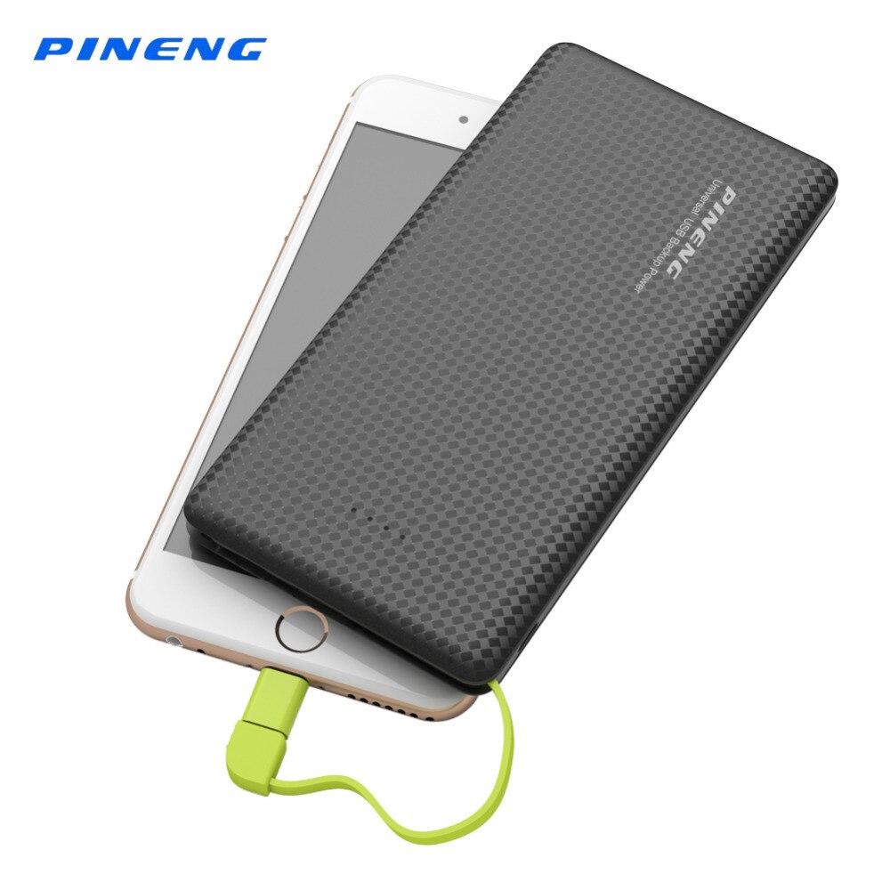 imágenes para Banco de la Energía 10000 mAh Pineng Original Li-Polymer Batería PowerBank Cargador Portátil de Batería Externa para el iphone Smartphone PN951