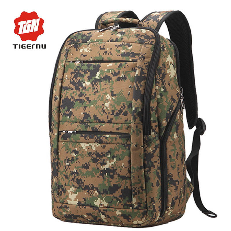 ФОТО Tigernu Youth Trend Preppy Schoolbag Military Backpack Nylon Drop proof Women Summer Backpack Boys&Girls Student Bag for Teens