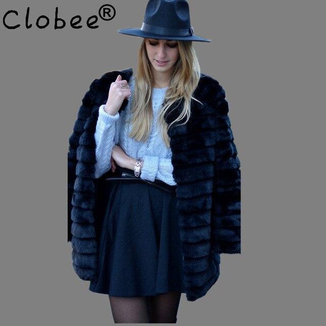 ca4f08e6622 Faux fur jacket 2019 Hot Plus Size XL XXL XXXL 4XL 5XL 6XL Winter Warm White