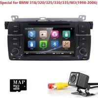 HD 7' wince radio car 1 din car atuoradio coche gps navigaton for bmw e46 318 /320/325/330/335/M3dvd player car audio 3G SWC BT