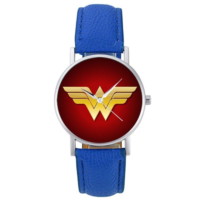 2018 New Fashion Wonder Woman Quartz Wristwatch Charm Women Bracelet Leather Wat