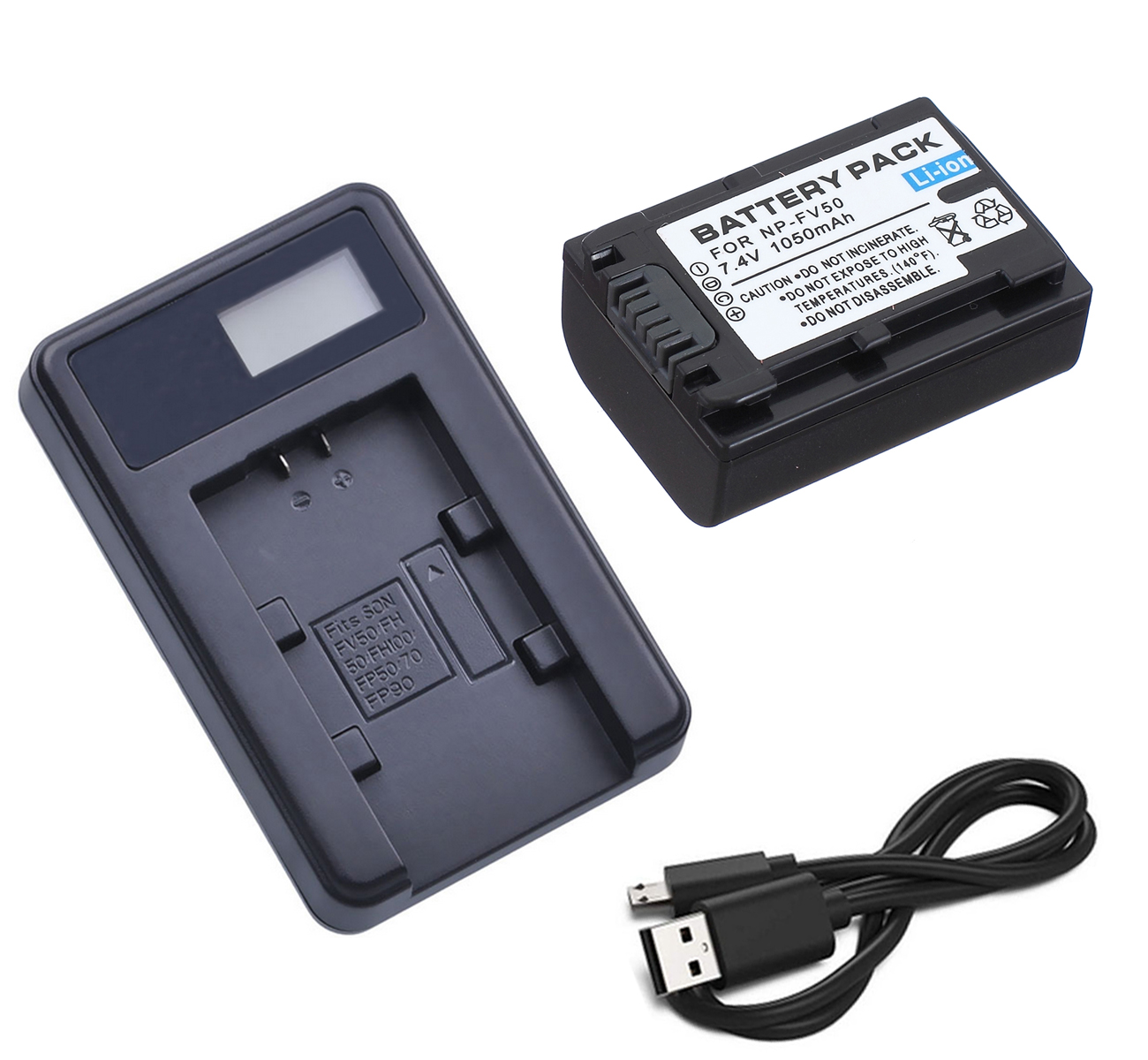 HDR-CX370V HDR-CX350V LCD USB Battery Charger for Sony HDR-CX300 HDR-CX360V HDR-CX330 HDR-CX305 HDR-CX390 Handycam Camcorder HDR-CX380 HDR-CX320