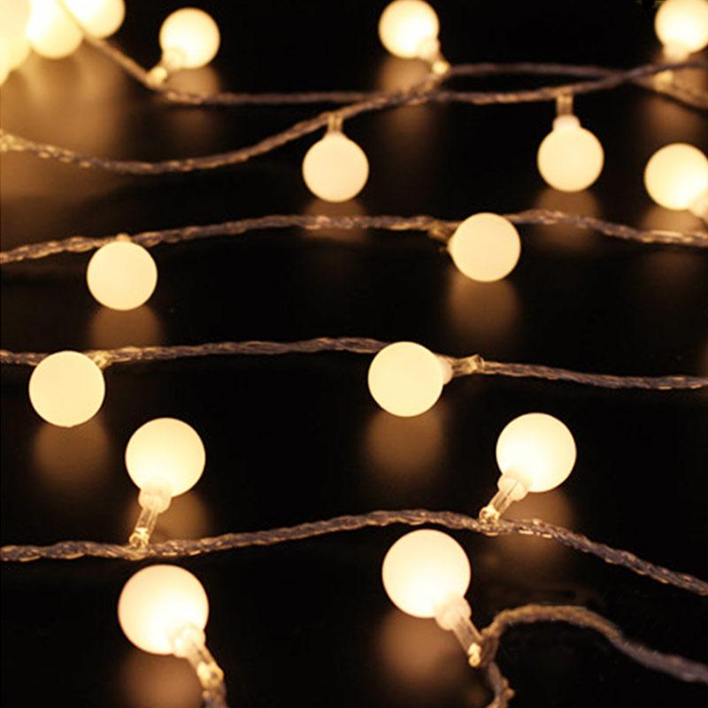 3 10m Led Round Bulb String Lights Fairy Lights Christmas