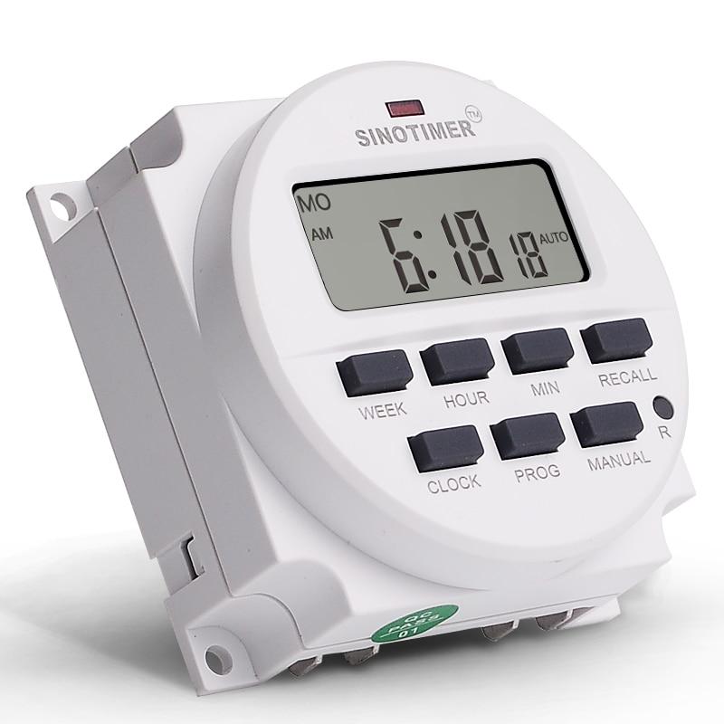 Temporizador digital lcd de 1.598 polegadas, temporizador digital de 12v dc, 7 dias de tempo programável, interruptor com ul listado em relé dentro