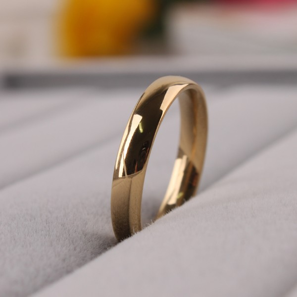 Gold Ring Men /Women Gift Gold 4MM Wide Classic Gold Wedding Bands Rings for Men Jewelry sa956