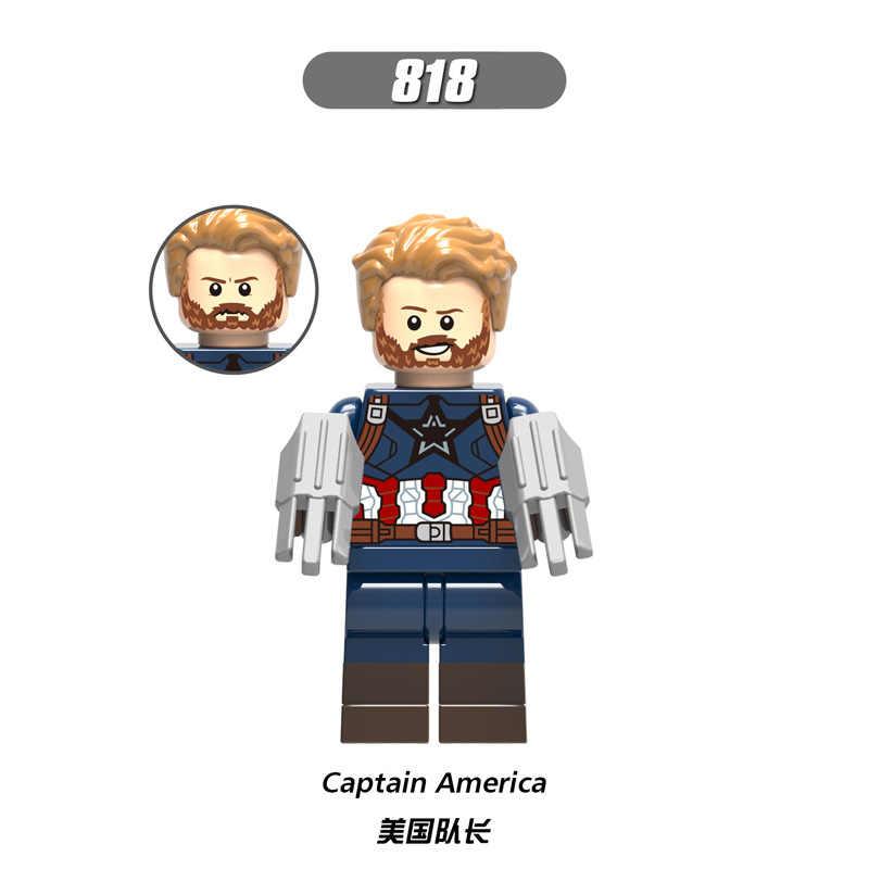 X0186 legoingly marvel ant avengers capitão super herói homem de ferro hulk pantera negra homem vespa blocos de construção brinquedo para crianças conjunto