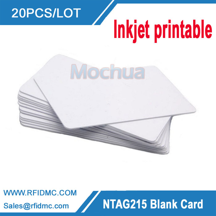 20pcs/lot  ntag215 inkjet printable Card ntag 215 Cards for Espon printer, Canon printer 230pcs lot printable blank inkjet pvc id cards for canon epson printer p50 a50 t50 t60 r390 l800
