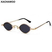 a53fd72e75 Kachawoo pequeño gafas de sol hombres de metal marco negro rojo lente  transparente retro small oval gafas de sol mujer unisex ar.