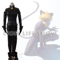 Miraculous Ladybug Adrien Agreste Black Cat Noir Catsuit Cosplay Costume Mask Halloween Fancy Clothes Custom Made