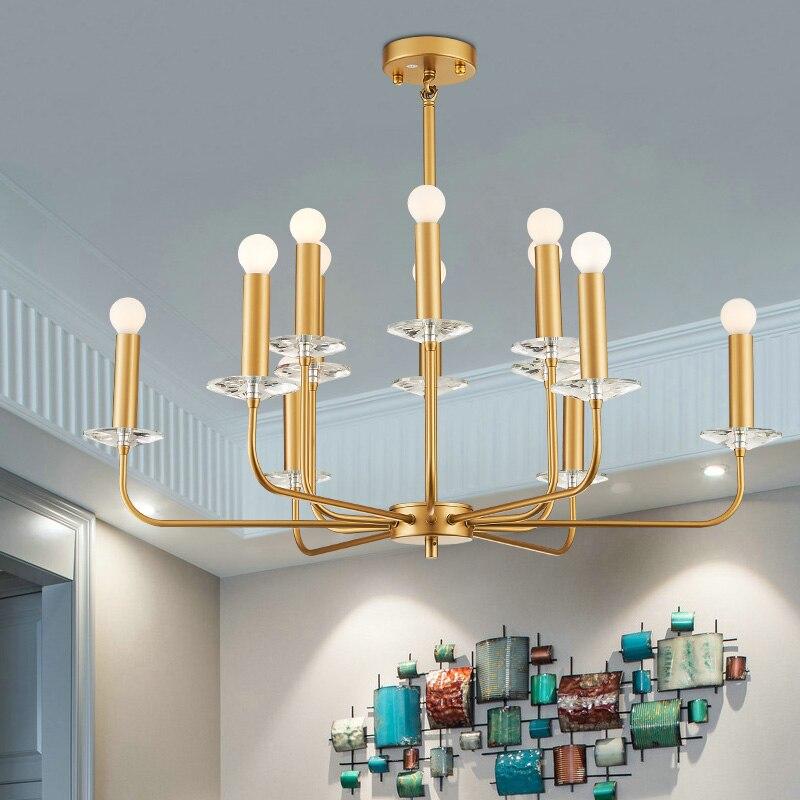 Livewin LED Hanging E14 gold pendant light Kitchen Fixtures Lighting Hanglamp Foyer Avize Dining room Suspension Luminaire