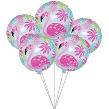 5pcs Hawaii Flamingo Party Foil Balloon Wedding Decorations Birthday Diy Kids Baloon Baby Shower Event