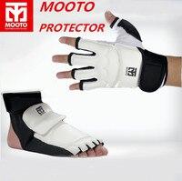 Free Shipping 1 Set MOOTO TaeKwonDo Sparring Karate Foot Guard Protector Mooto Socks Hand Gloves Gear