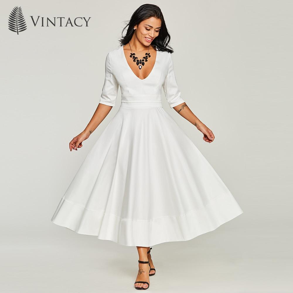 Vestidos noche blanco elegantes