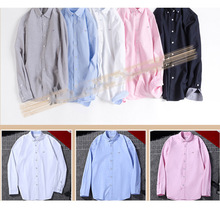 2018 New Classical Dress Shirt Male Shirts Men Spring Autumn Long Sleeve Solid Twill Formal Business Social Free Ship
