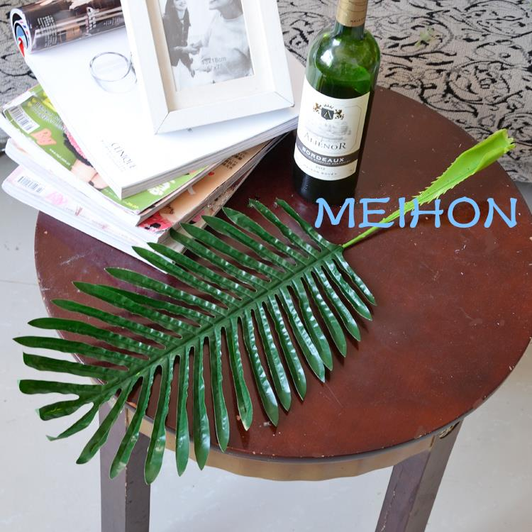 artificial plants leaf tailed Palm leaf DIY Party living room flower decoration material fiori decorative 5PCS LOT in Artificial Dried Flowers from Home Garden