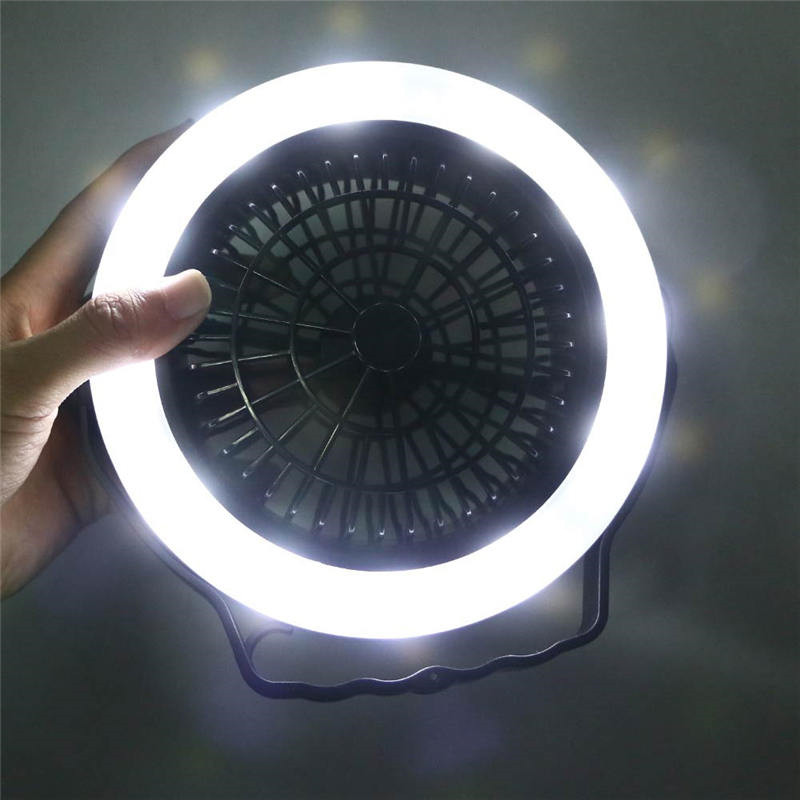 Multifunction nightlight Outdoor Camping Travel LED Fan Light Lantern Tent Lamp With Hook 3 Modes For AA Battery Portable
