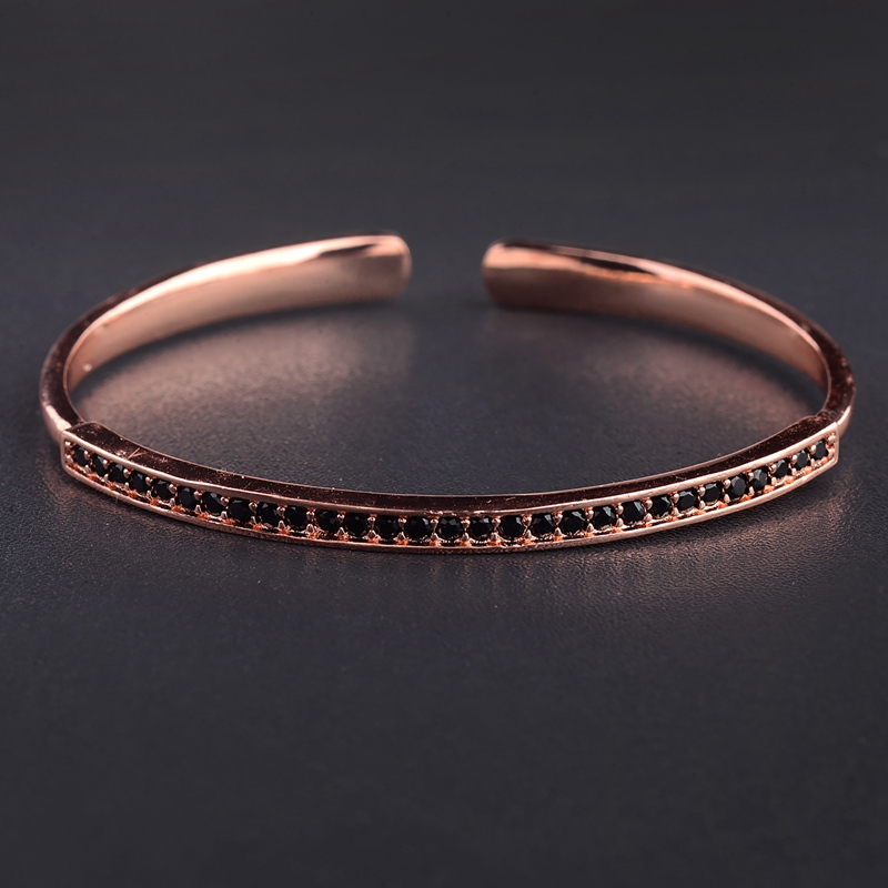 Amader Micro Inlaid Zircon Copper Bracelet Bangles Luxury Gold Cuff Bracelet For Women Cuff Bangles Jewelry Gift Girls Dropshipp by Amader