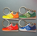 FREE SHIPPING by FEDEX 100pcs/lot Wholesale New Balance Sneaker Shoe Soft PVC keychains\keyrings\keyholders