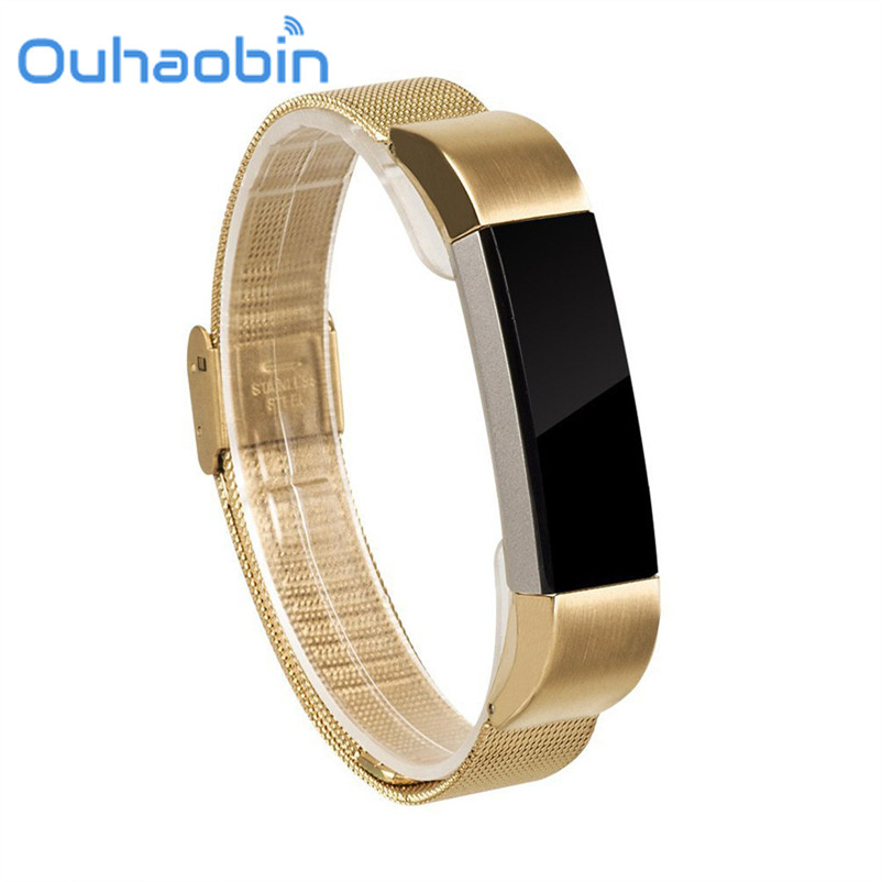 Ouhaobin 21cm Mesh Milanese Stainless Steel Watch Band Strap Bracelet For Fitbit Alta Tracker Gfit Oct 11 Dropship