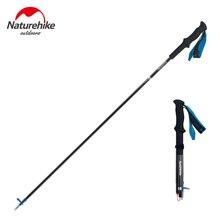 Naturehike 1Pcs Ultralight Hiking Cane Foldable Adjustable Trekking Poles Carbon Fiber Walking Sticks NH18D020-Z
