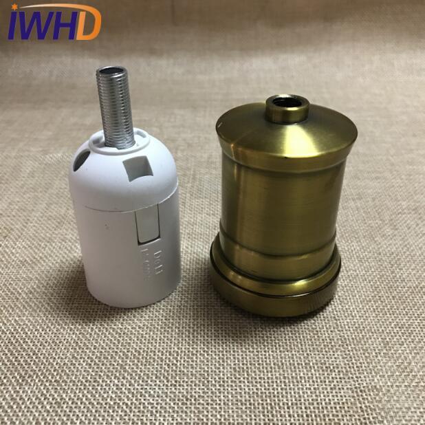 Portalampada, винтажный E27 патрон для лампы, фитинг, промышленный стиль, дуиль E27, винтажный патрон для лампы Эдисона, подвесное основание для патрона - Цвет: 14