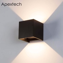 Apextech LED Outdoor Wall Lamp 7W Waterproof Washer Lights Modern Nordic Style Beam Angle Adjustable For Home Decorations