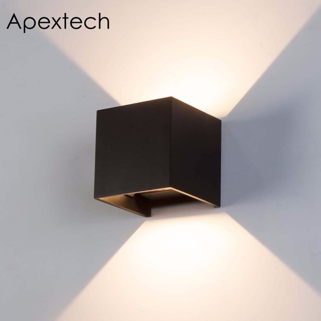 Apextech Led Outdoor Wall Lamp 7w Waterproof Washer Lights Modern Nordic Style Beam Angle Adjule